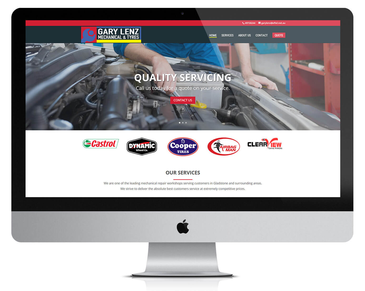 website design for local auto services business