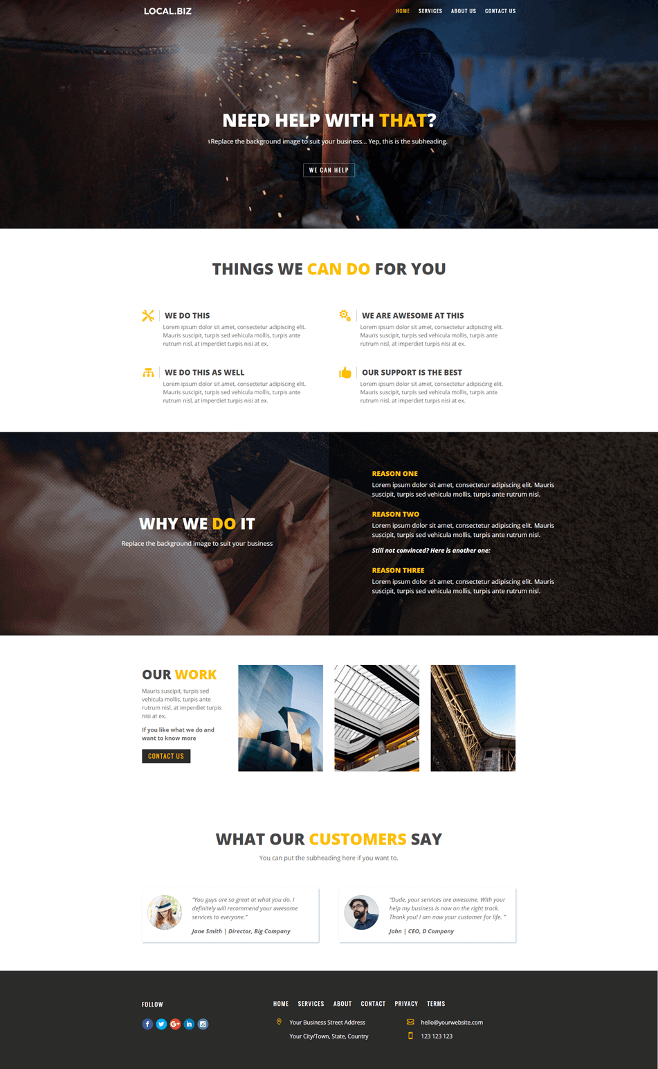 Xtreme Engineering about page design