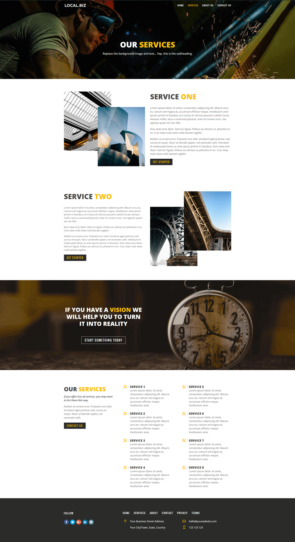 Home Page design for Xtreme Engineering