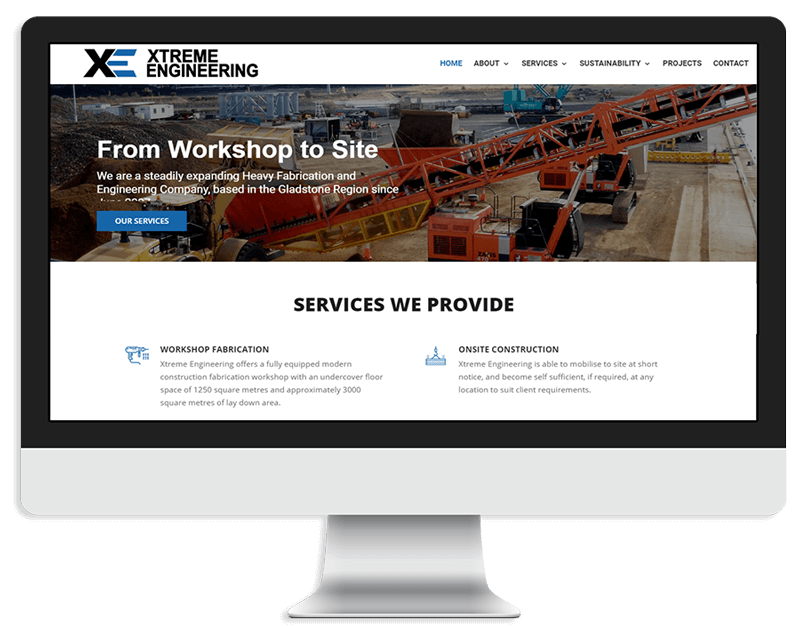 Xtreme Engineering website design