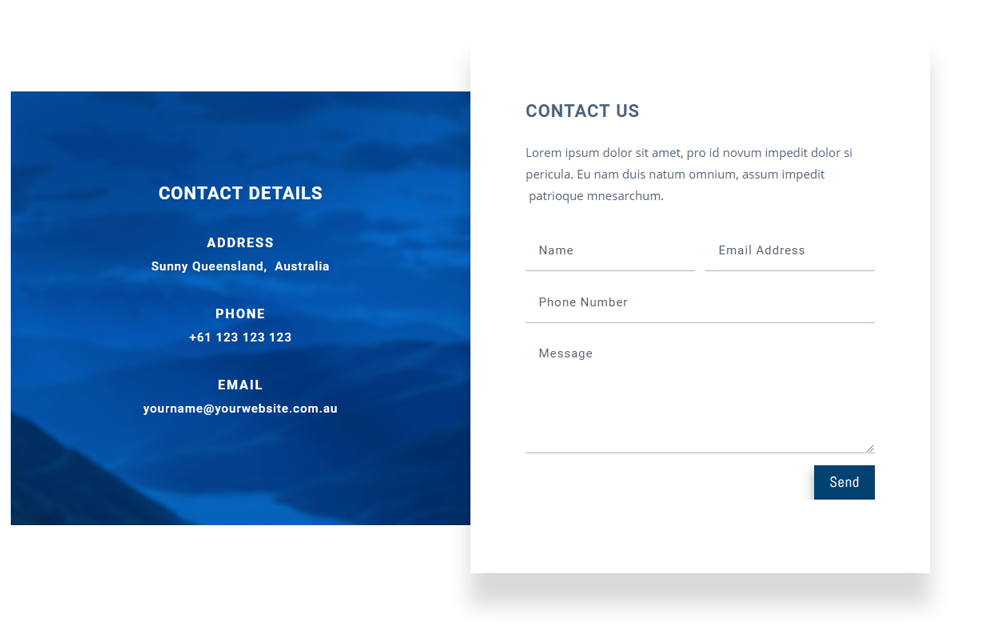Free Contact Form Layouts For Divi Page Builder Infinite